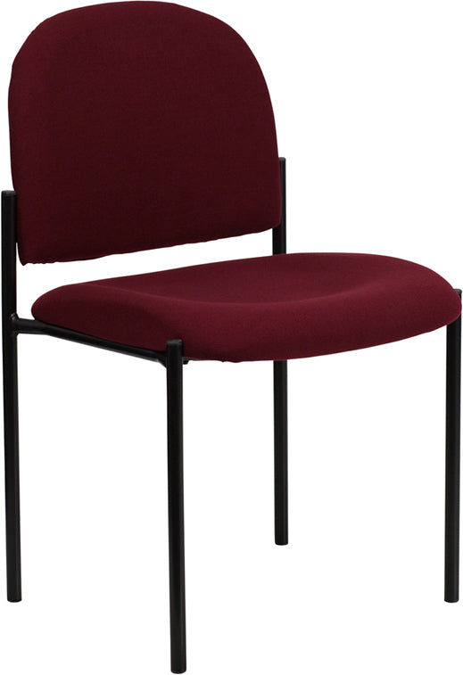 Comfort Burgundy Fabric Stackable Steel Side Reception Chair - BT-515-1-BY-GG