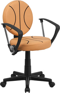 Basketball Swivel Task Chair with Arms - BT-6178-BASKET-A-GG