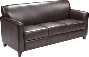 HERCULES Diplomat Series Brown Leather Sofa - BT-827-3-BN-GG