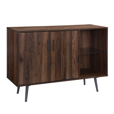 "44"" Asymetrical Buffet - Dark Walnut"