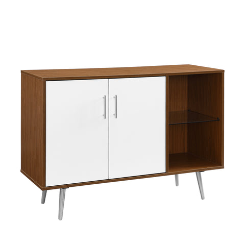 "44"" Asymetrical Buffet - Acorn /White"