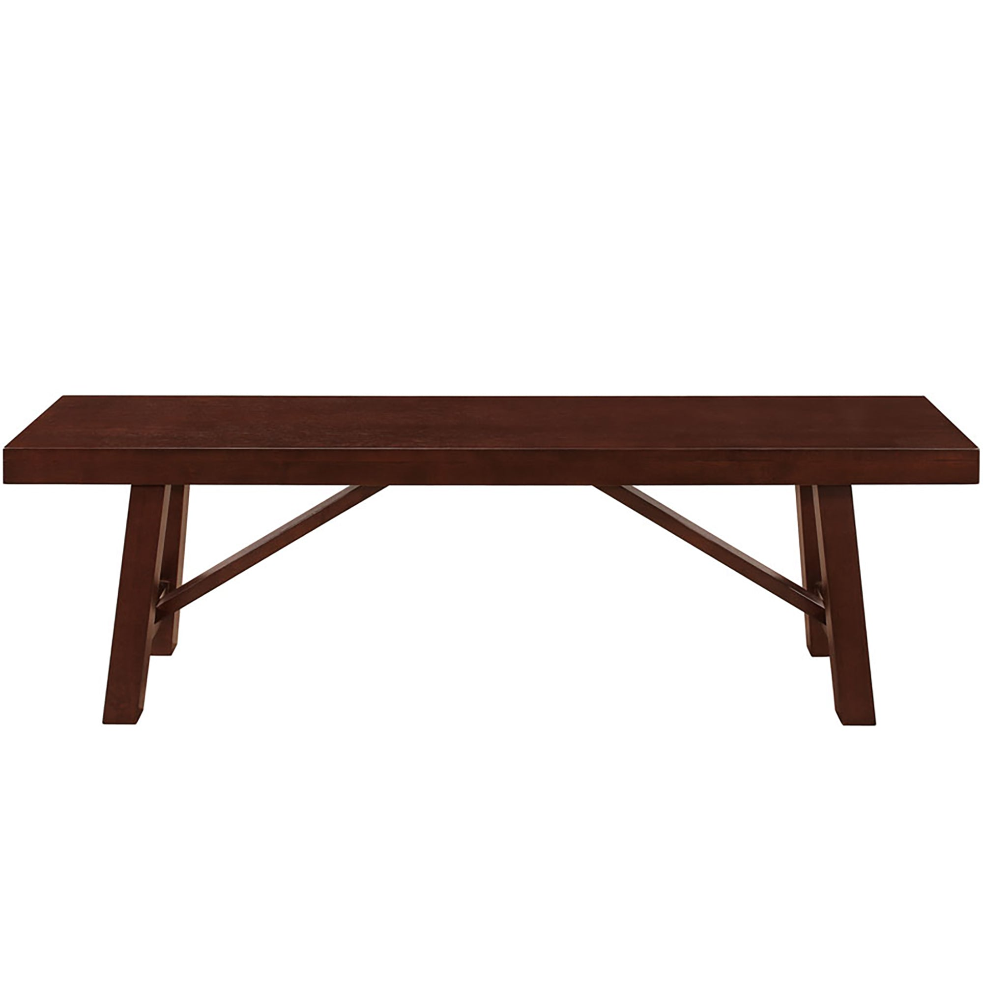 "60"" Solid Wood Trestle Dining Table - Espresso"