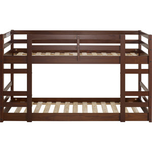 Low Wood Twin Bunk Bed - Walnut