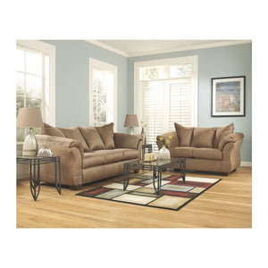 Flash Furniture Signature Design by Ashley Darcy Loveseat and Sofa in Mocha Microfiber