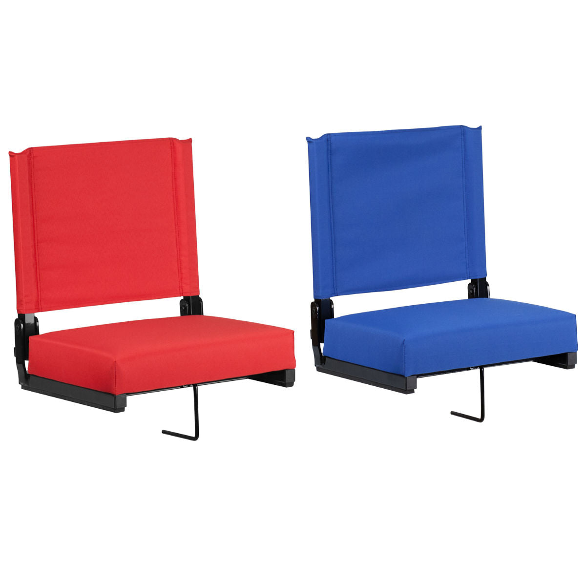 Flash Furniture Grandstand Comfort Seats by Flash with Ultra-Padded Seat in Blue and Red