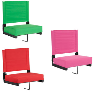 Flash Furniture Grandstand Comfort Seats by Flash with Ultra-Padded Seat in Bright Green, Pink and Red