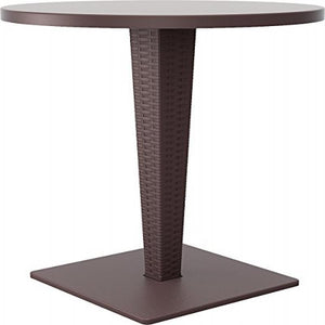 Riva Werzalit Top Round Dining Table Brown 27.5 inch