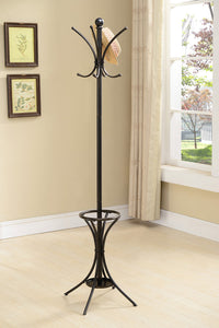 CR4129 Pewter Metal 8 Hook Hat & Coat Rack