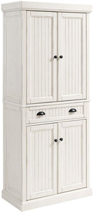 SEASIDE KITCHEN PANTRY IN DISTRESSED WHITE FINISH