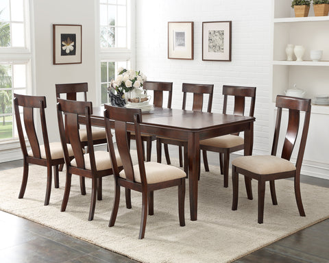 "D1004-1 Cherry Wood Contemporary Rectangular Dinette Dining Room Table With 18"" Leaf Extension"
