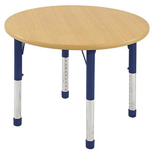 "60"" Round Table Maple/Blue-Chunky (Pack of 1)"
