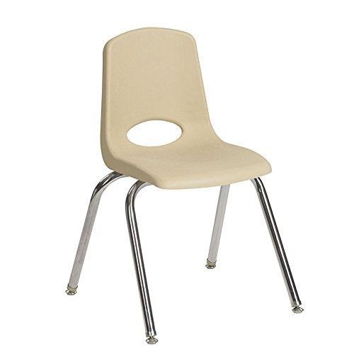 "12"" Stack Chair - Chrome Legs - SDG (Pack of 6)"