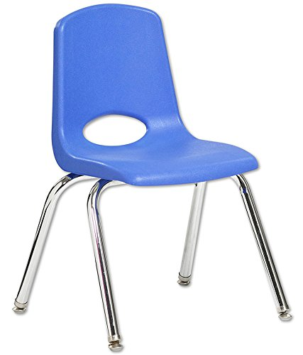 "14"" Stack Chair - Chrome Legs - BLG (Pack of 6)"