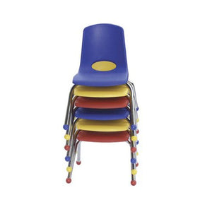 "14"" Stack Chair - Chrome Legs - SD (Pack of 6)"