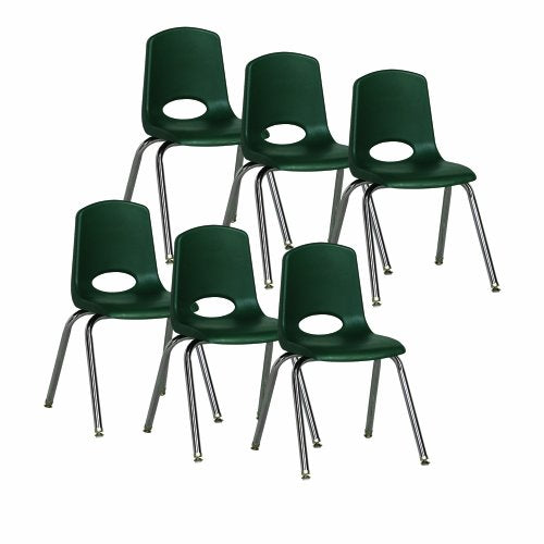 "16"" Stack Chair - Chrome Legs - HGG (Pack of 6)"