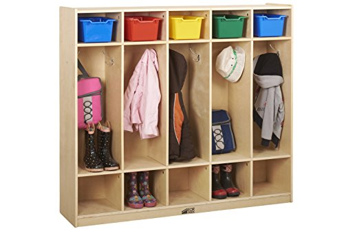 Birch 5-Section Straight Coat Locker (Pack of 1)