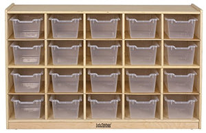 Birch 20 Cubby Tray Cabinet w/ Clear Bins (Pack of 1)