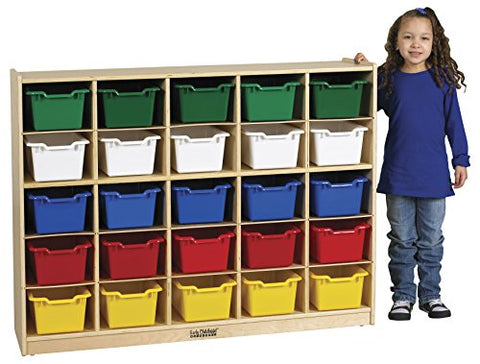 Birch 25 Cubby Tray Cabinet w/ Assorted Bins (Pack of 1)