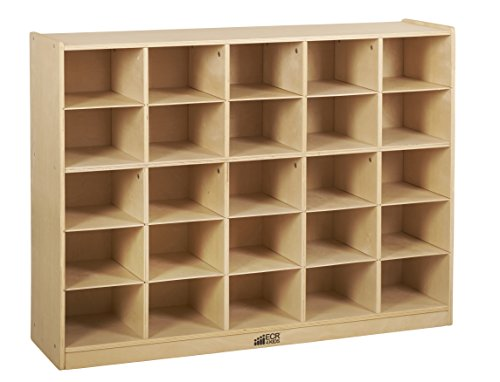 Birch 25 Cubby Tray Cabinet w/ Clear Bins (Pack of 1)