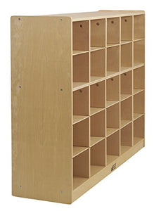 Birch 25 Cubby Tray Cabinet (Pack of 1)