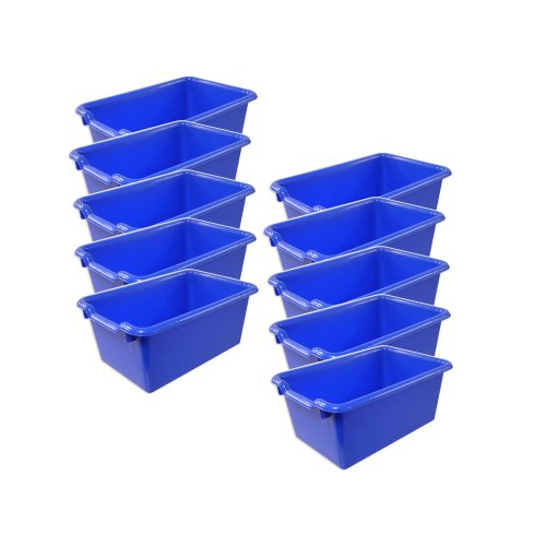 Scoop Front Storage Bins - Blue (Pack of 10)