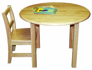 "30"" Round Hardwood Table with 18"" Legs (Pack of 1)"