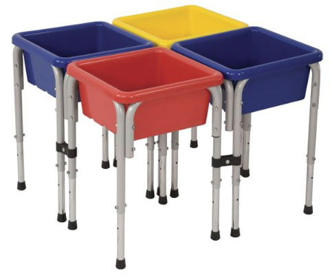 4 Station Square Sand & Water Table with Lids (Pack of 1)