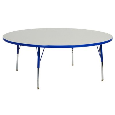 "60"" Round Table Grey/Blue-Toddler Swivel (Pack of 1)"