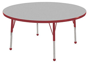 "60"" Round Table Grey/Red-Standard Ball (Pack of 1)"
