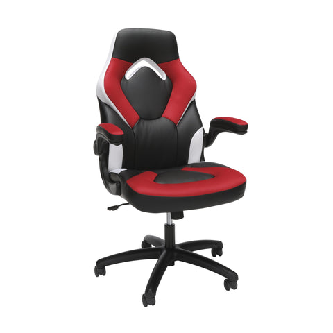 ESSENTIALS GAMING CHAIR RED WHITE