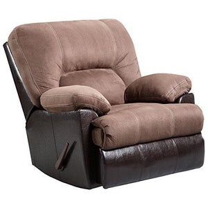 Exceptional Designs by Flash Laredo Chocolate Microfiber Rocker Recliner
