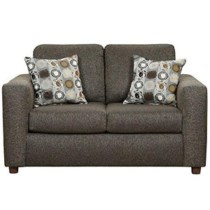 Exceptional Designs by Flash Vivid Onyx Fabric Loveseat