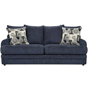 Exceptional Designs by Flash Caliber Navy Chenille Sofa