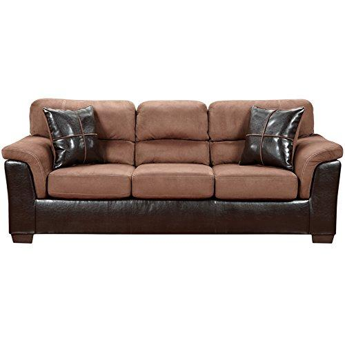 Exceptional Designs by Flash Laredo Chocolate Microfiber Sofa