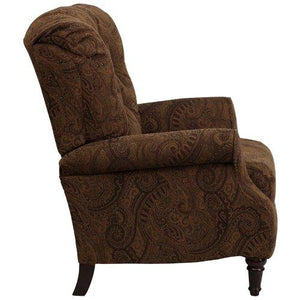 Traditional Tobacco Fabric Tufted Hi-Leg Recliner - AM-2650-6370-GG