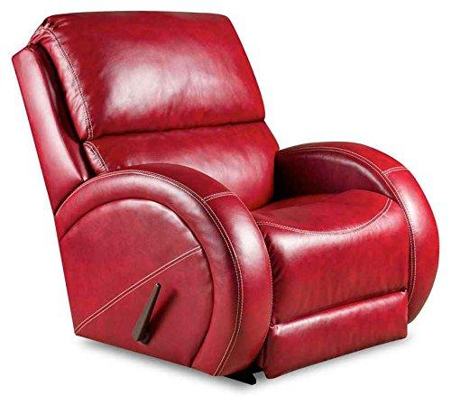 Flash Furniture AM-9490-5280-GG Contemporary Como Leather Rocker Recliner, Red