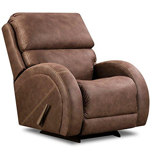 Contemporary Sultry Expresso Microfiber Rocker Recliner