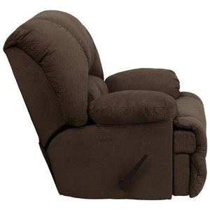 Contemporary Glacier Brown Microfiber Chaise Rocker Recliner [AM-C9700-7901-GG]