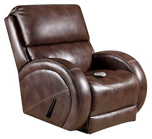 Massaging Loggins Brown Leather Recliner with Heat Control