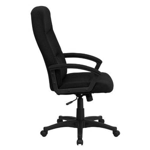 High Back Black Fabric Executive Swivel Chair with Arms - BT-134A-BK-GG