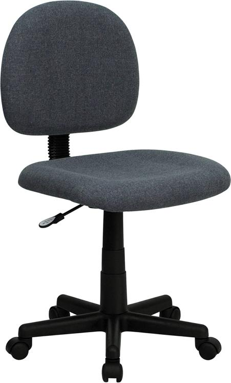 Low Back Gray Fabric Swivel Task Chair - BT-660-GY-GG