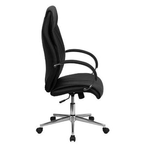 Flash Furniture BT-9996-BK-GG High Back Black Leather Executive Office Chair