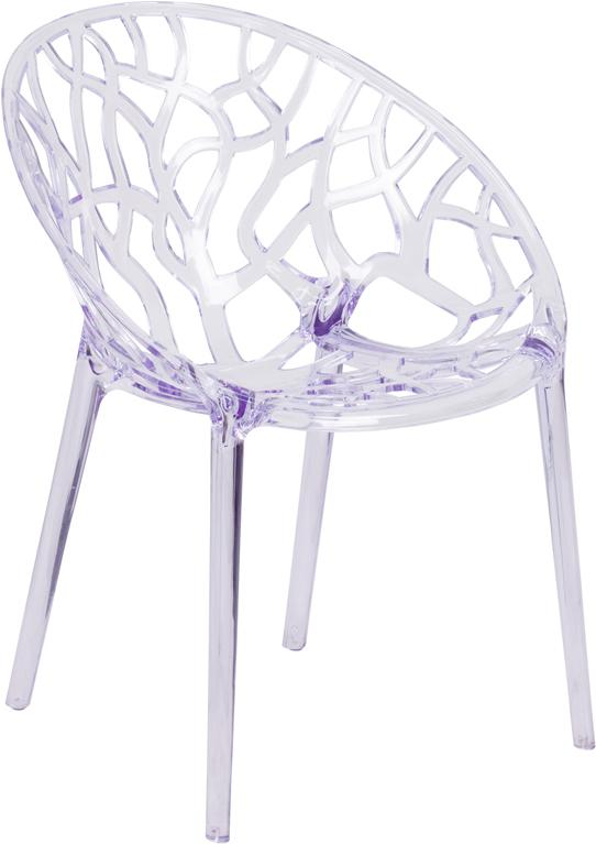 Specter Series Transparent Stacking Side Chair - FH-156-APC-GG
