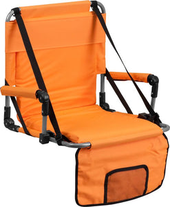 Folding Stadium Chair in Orange