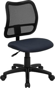 Mid-Back Navy Blue Mesh Swivel Task Chair - WL-A277-NVY-GG