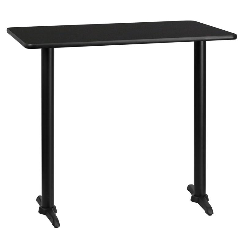 Flash Furniture 30 by 45' Rectangular Black Laminate Table Top with 5 by 22'