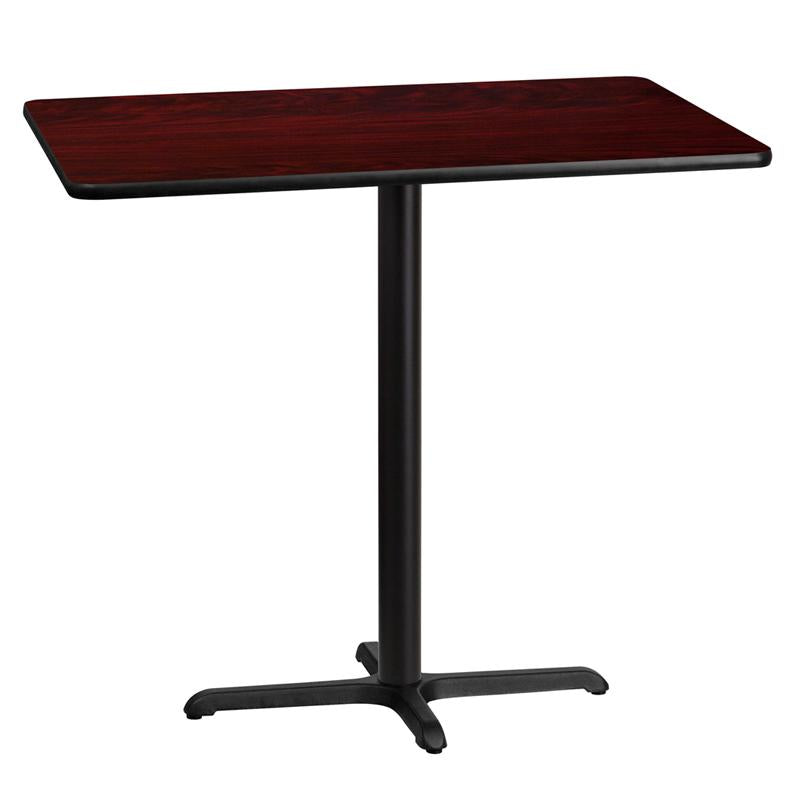 Flash Furniture 30 by 45' Rectangular Mahogany Laminate Table Top with 22 by