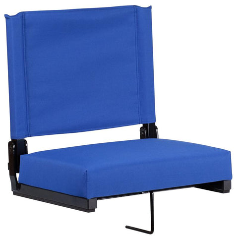 Grandstand Comfort Seats by Flash with Ultra-Padded Seat in Blue - XU-STA-BL-GG