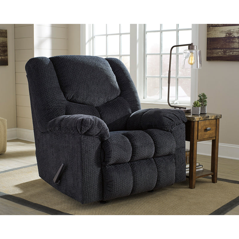 Signature Design by Ashley Turboprop Rocker Recliner in Slate Fabric