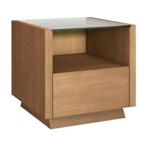 "24"" Sleek Contemporary End Table in a Light Cherry Finish"